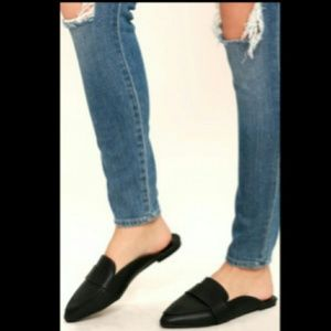 Shoes - New Women's Black Slide In Mule Shoes various size